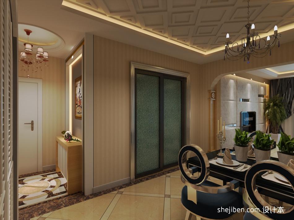 精选面积92平混搭三居玄关装修设计效果图玄关潮流混搭玄关设计图片赏析