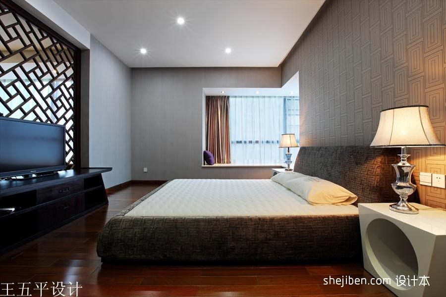 深圳集信名城样板房设计中式卧室装修效果图设计图片赏析