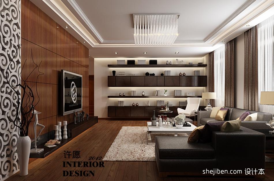 104.8平热门混搭客厅装修图片潮流混搭设计图片赏析