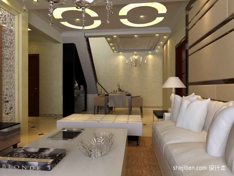 精美109平三居混搭装修设计效果图客厅潮流混搭客厅设计图片赏析