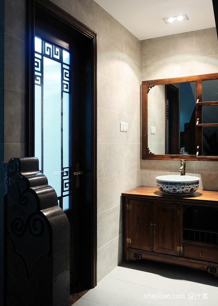 中式风格家装卫生间装修效果图欣赏卫生间中式现代卫生间设计图片赏析