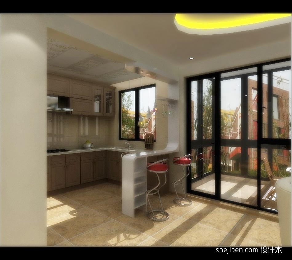 精美面积127平别墅厨房混搭装修效果图片大全餐厅潮流混搭厨房设计图片赏析