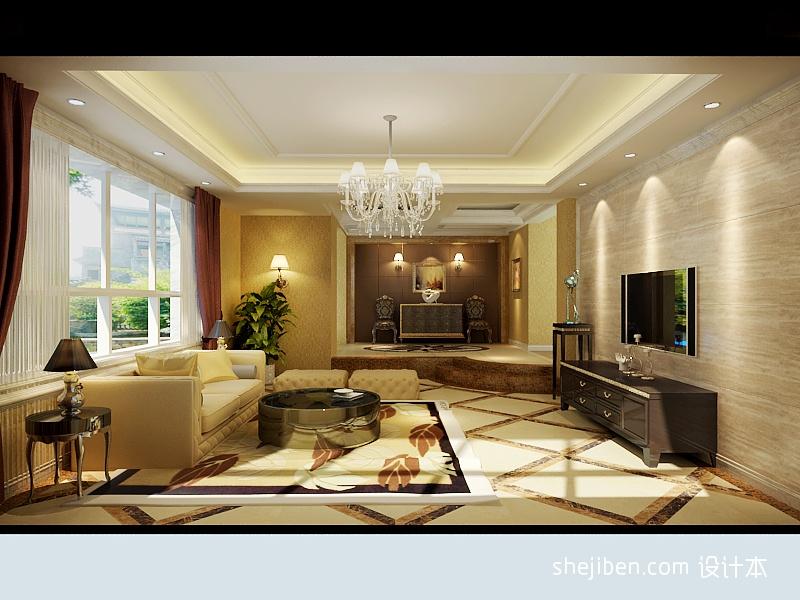精美大小142平别墅客厅混搭装修设计效果图片客厅潮流混搭客厅设计图片赏析