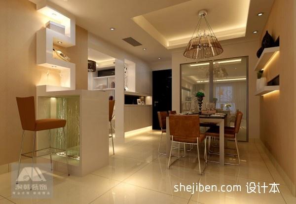 优雅126平混搭三居餐厅图片大全厨房潮流混搭餐厅设计图片赏析