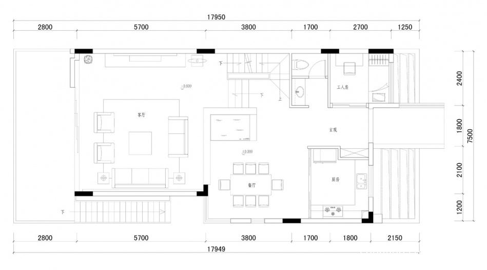 华丽285平混搭样板间客厅设计案例客厅潮流混搭客厅设计图片赏析