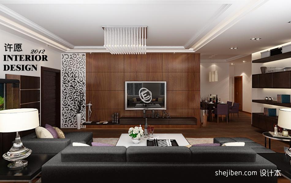 精美106平方三居客厅混搭装修图客厅潮流混搭客厅设计图片赏析