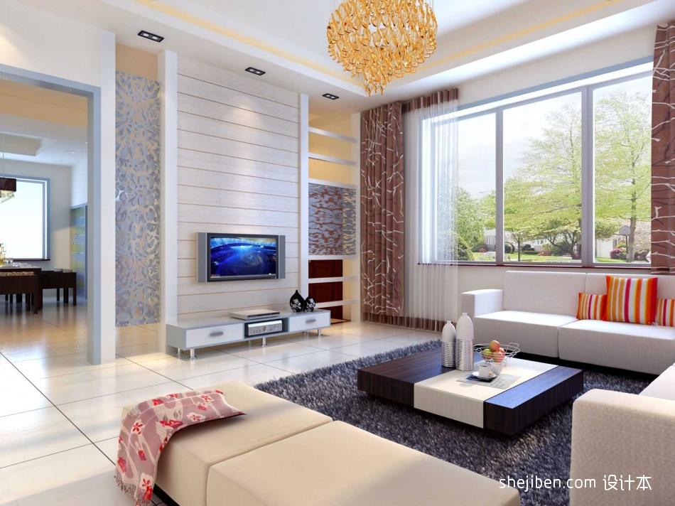 129平方四居客厅混搭装修效果图客厅潮流混搭客厅设计图片赏析