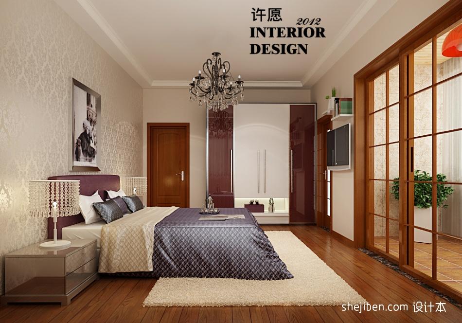精美面积92平混搭三居卧室效果图片欣赏卧室潮流混搭卧室设计图片赏析