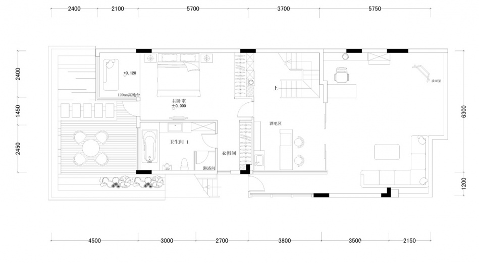 平混搭样板间客厅装修图片客厅潮流混搭客厅设计图片赏析