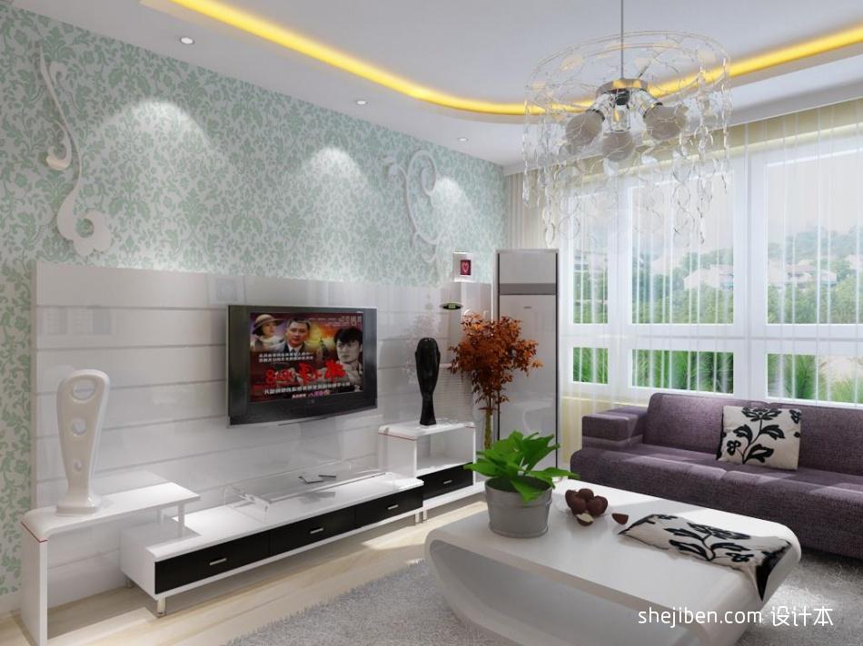 悠雅53平混搭二居客厅装潢图客厅潮流混搭客厅设计图片赏析