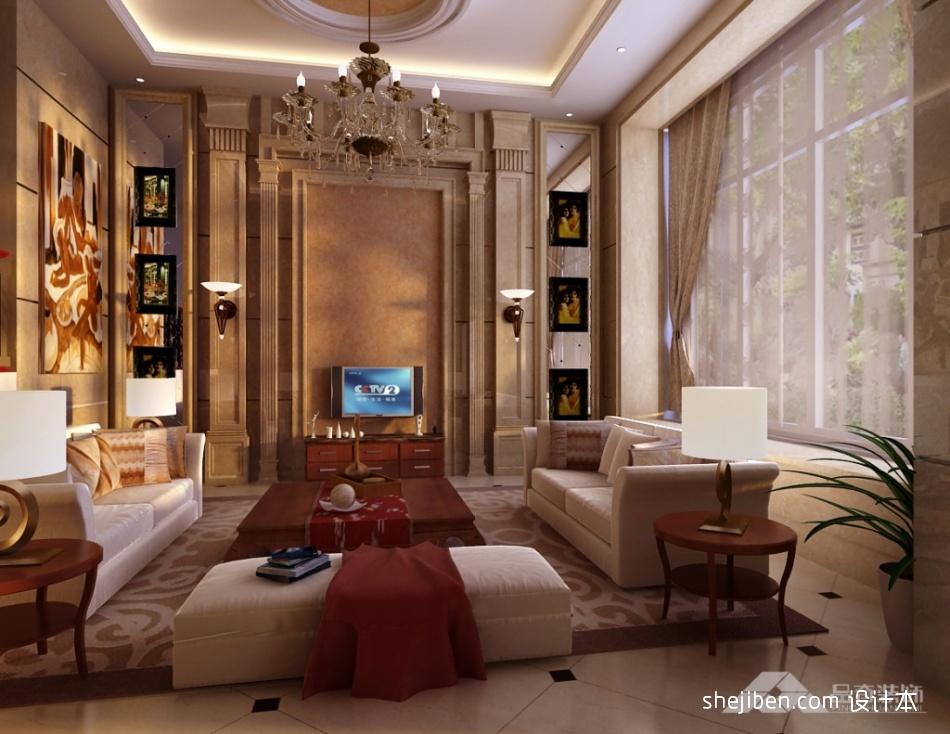华丽372平混搭别墅客厅效果图片大全客厅潮流混搭客厅设计图片赏析