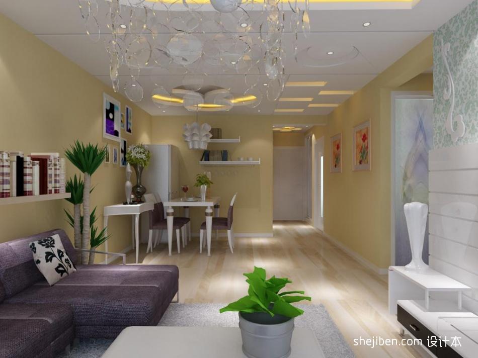 华丽75平混搭二居客厅设计效果图客厅潮流混搭客厅设计图片赏析