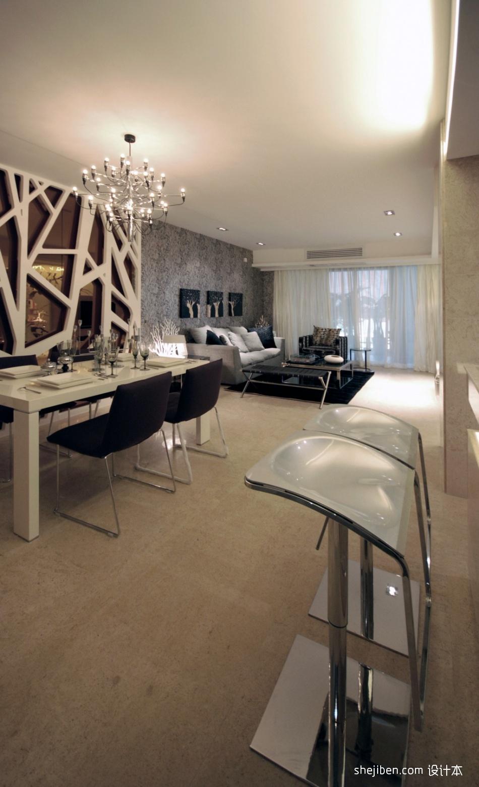 106.6平精美混搭客厅装修设计效果图片客厅潮流混搭客厅设计图片赏析