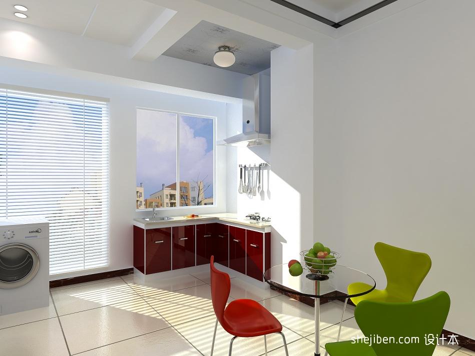精美70平米混搭小户型厨房装饰图片大全餐厅潮流混搭厨房设计图片赏析