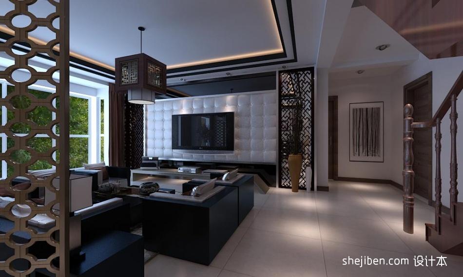 精美127平方混搭别墅客厅装修图片大全客厅潮流混搭客厅设计图片赏析