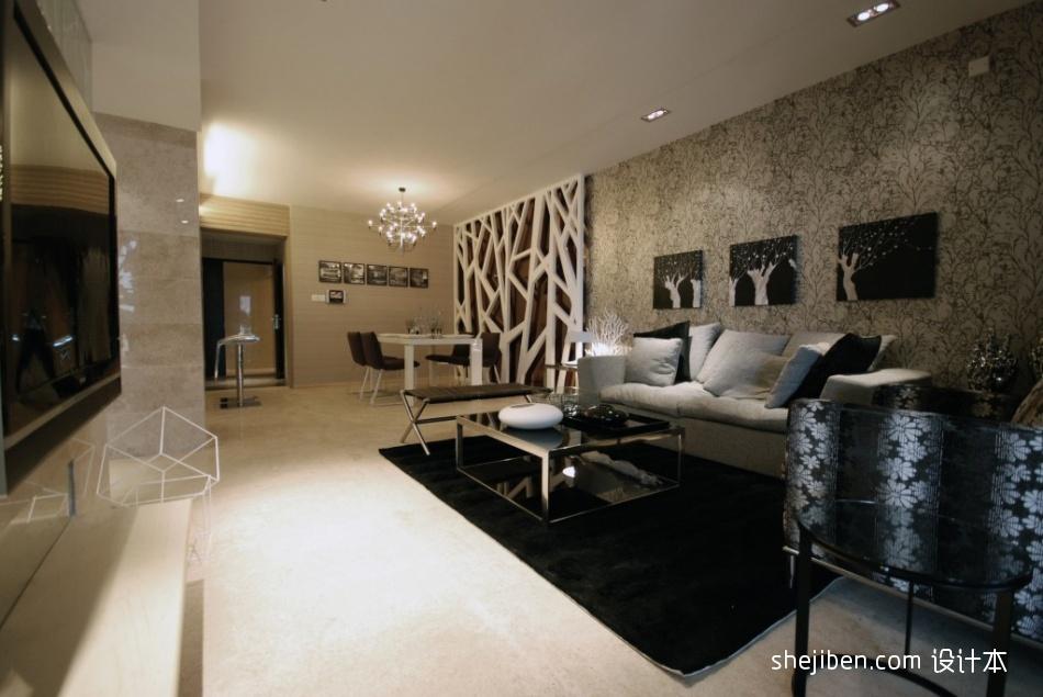 88.0平热门客厅混搭装修效果图客厅潮流混搭客厅设计图片赏析