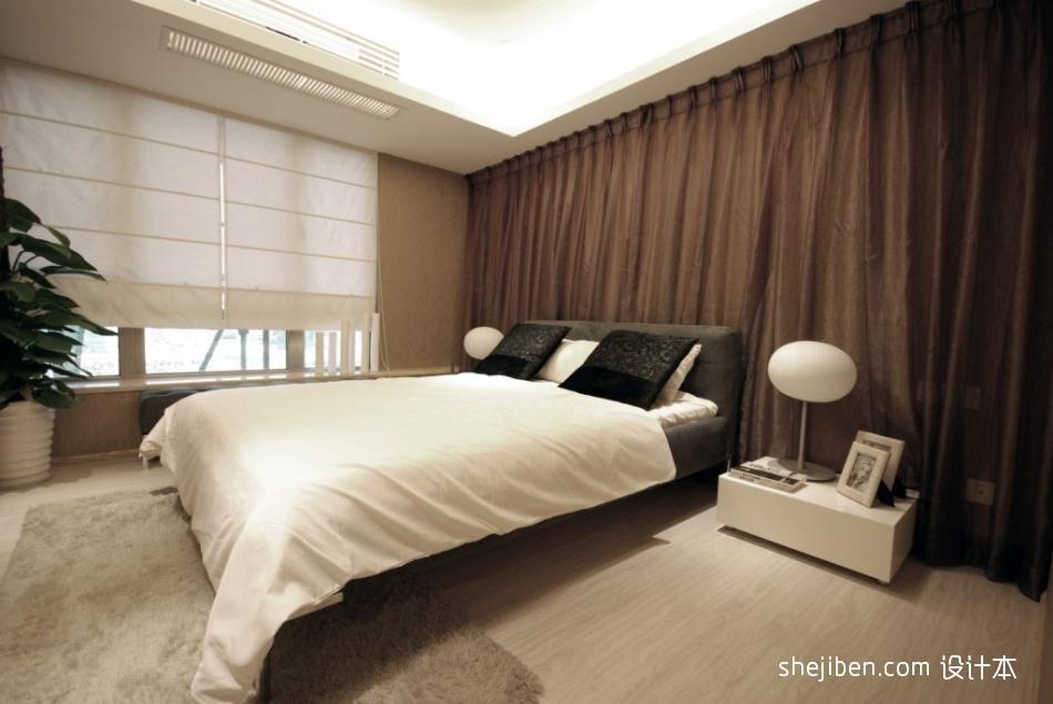 现代风格简单主人卧室床头背景墙吊顶飘窗窗台装修效果图片功能区潮流混搭功能区设计图片赏析