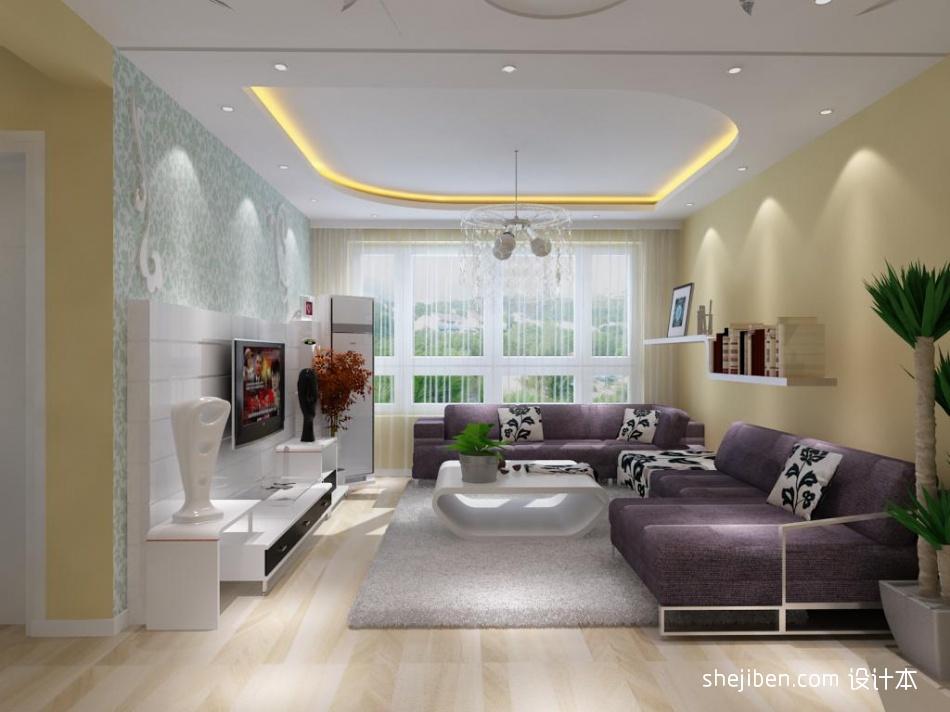 明亮72平混搭二居客厅效果图片大全客厅潮流混搭客厅设计图片赏析