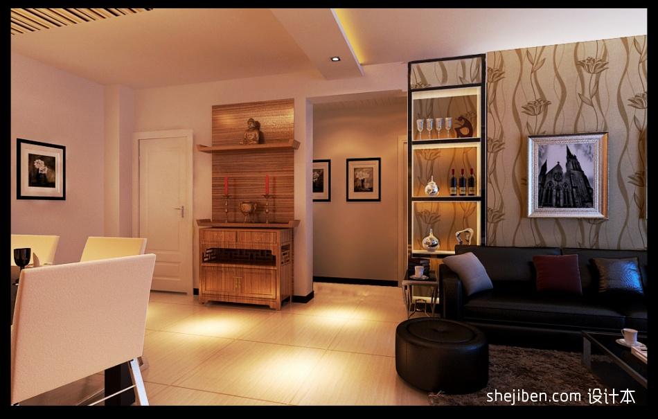 热门90平米3室客厅混搭实景图片大全客厅潮流混搭客厅设计图片赏析