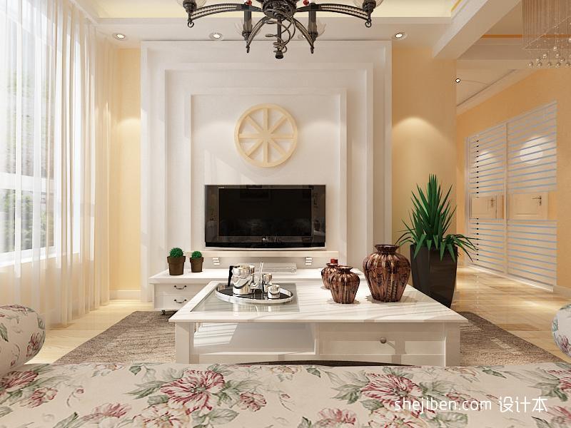客厅前景墙客厅潮流混搭客厅设计图片赏析