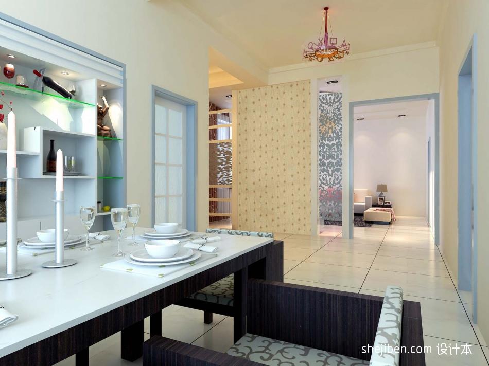质朴139平混搭四居餐厅图片欣赏潮流混搭设计图片赏析