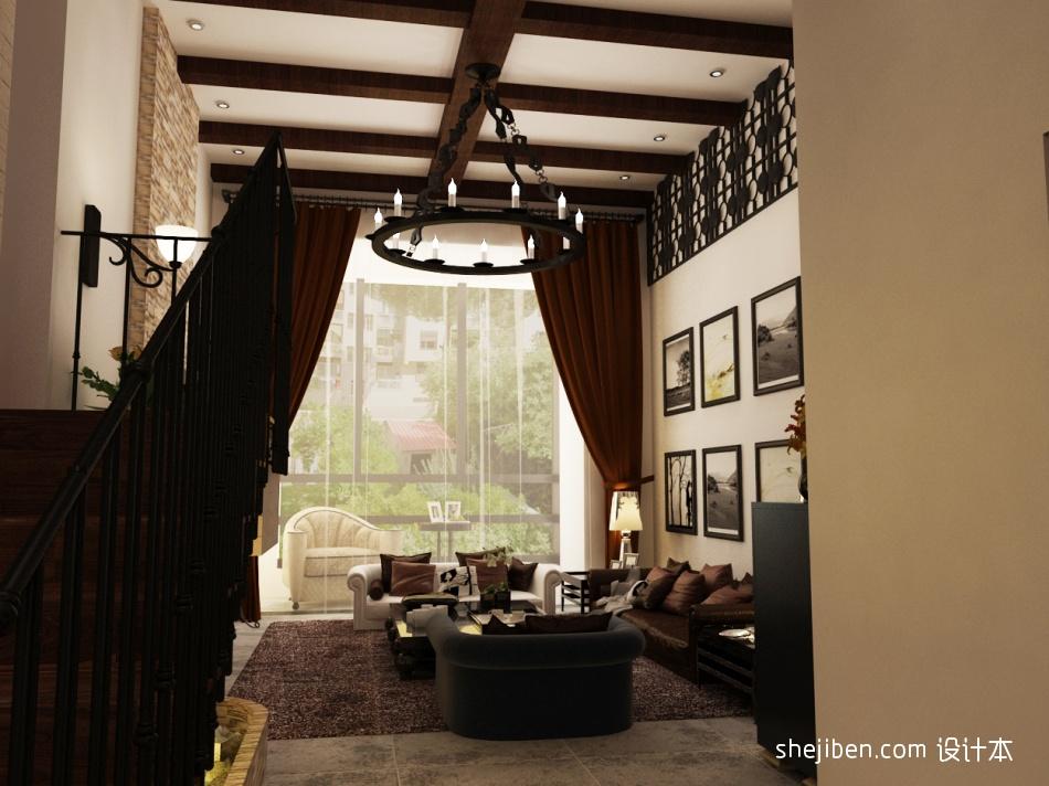 热门面积127平复式客厅混搭装修效果图片大全客厅潮流混搭客厅设计图片赏析