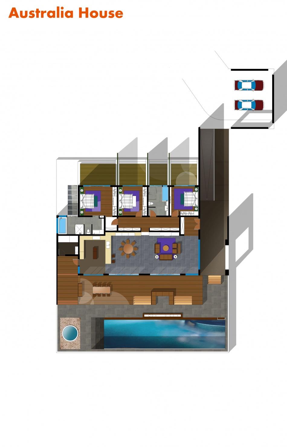 Australiahouse客厅潮流混搭客厅设计图片赏析