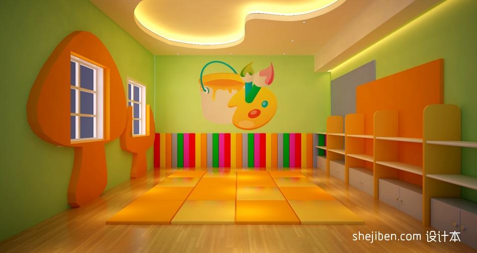 幼儿园教室墙面彩绘图片大全教育机构其他设计图片赏析