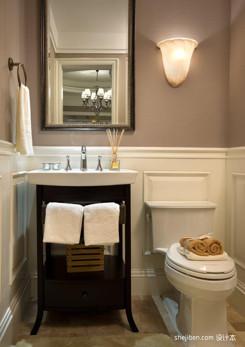 精美卫生间混搭实景图卫生间潮流混搭卫生间设计图片赏析