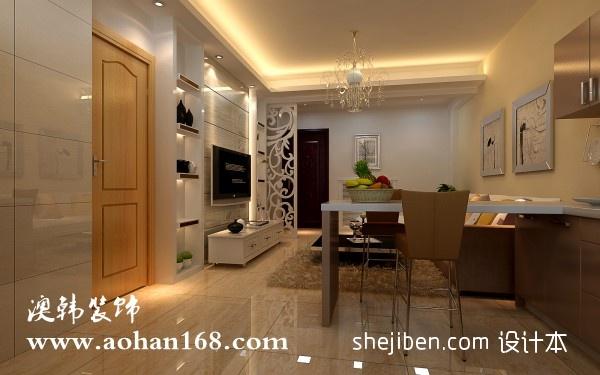 优美63平混搭二居餐厅装修图厨房潮流混搭餐厅设计图片赏析