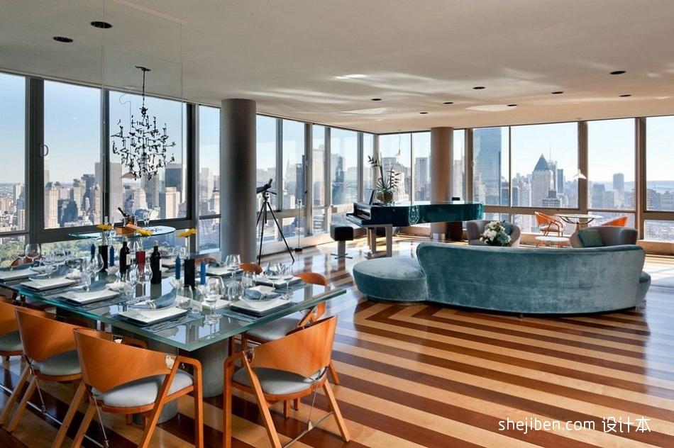 精美面积143平混搭四居餐厅装修实景图片大全厨房潮流混搭餐厅设计图片赏析