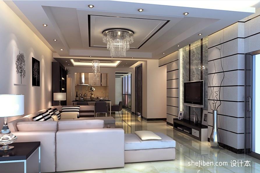 精美99平方三居客厅混搭装修图客厅潮流混搭客厅设计图片赏析