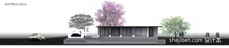 别墅外观黑白view2客厅潮流混搭客厅设计图片赏析