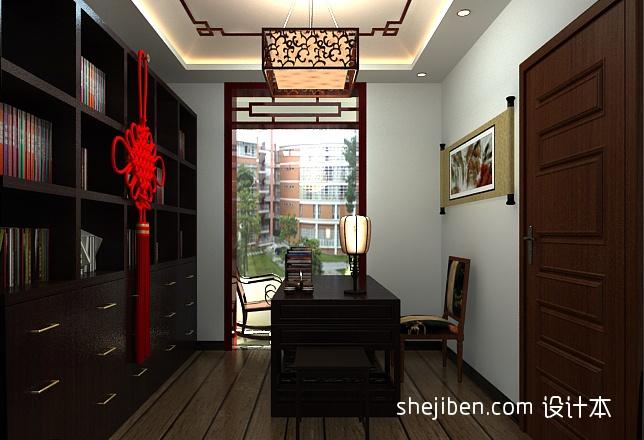 中式书屋客厅北欧极简客厅设计图片赏析