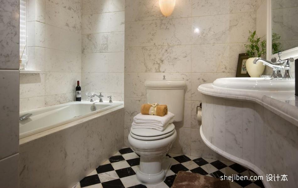 优雅336平混搭样板间卫生间设计美图卫生间潮流混搭卫生间设计图片赏析