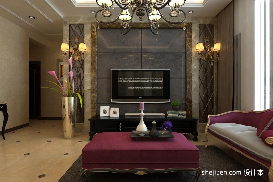 电视背景客厅潮流混搭客厅设计图片赏析