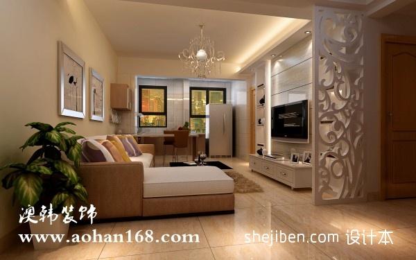 悠雅65平混搭二居客厅装潢图客厅潮流混搭客厅设计图片赏析