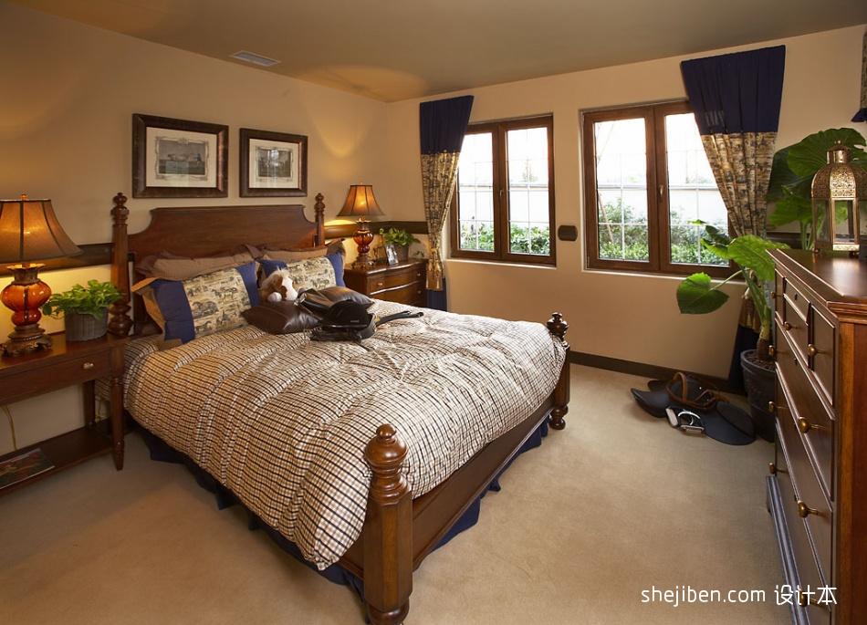 欧式风格80后别墅主人卧室床头背景墙装修效果图片其他设计图片赏析
