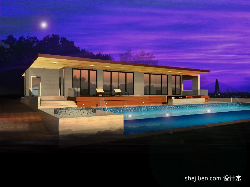 澳洲别墅外观夜景view1客厅潮流混搭客厅设计图片赏析