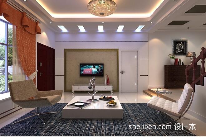 电视墙客厅北欧极简客厅设计图片赏析