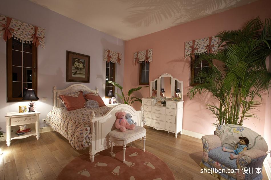 欧式风格时尚女孩儿童房窗户背景墙设计装修效果图片其他设计图片赏析