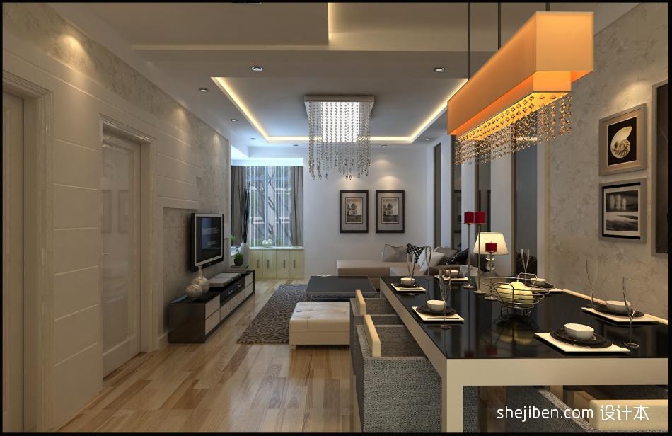78平方二居餐厅混搭装修效果图厨房潮流混搭餐厅设计图片赏析