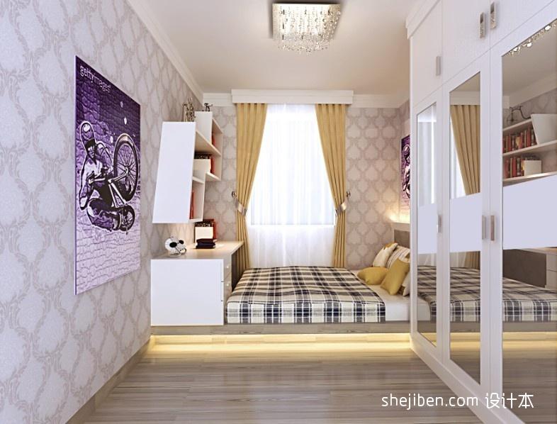精选105平方三居卧室混搭效果图片大全卧室潮流混搭卧室设计图片赏析