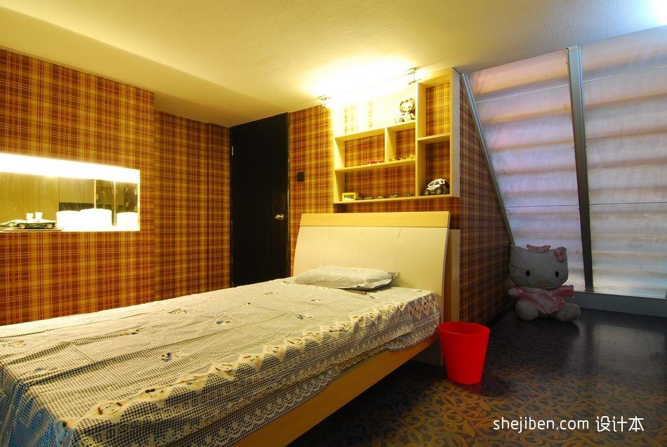 精美面积121平复式卧室混搭效果图片欣赏设计图片赏析