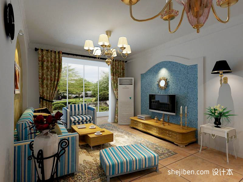 精致105平混搭三居客厅装饰图客厅潮流混搭客厅设计图片赏析