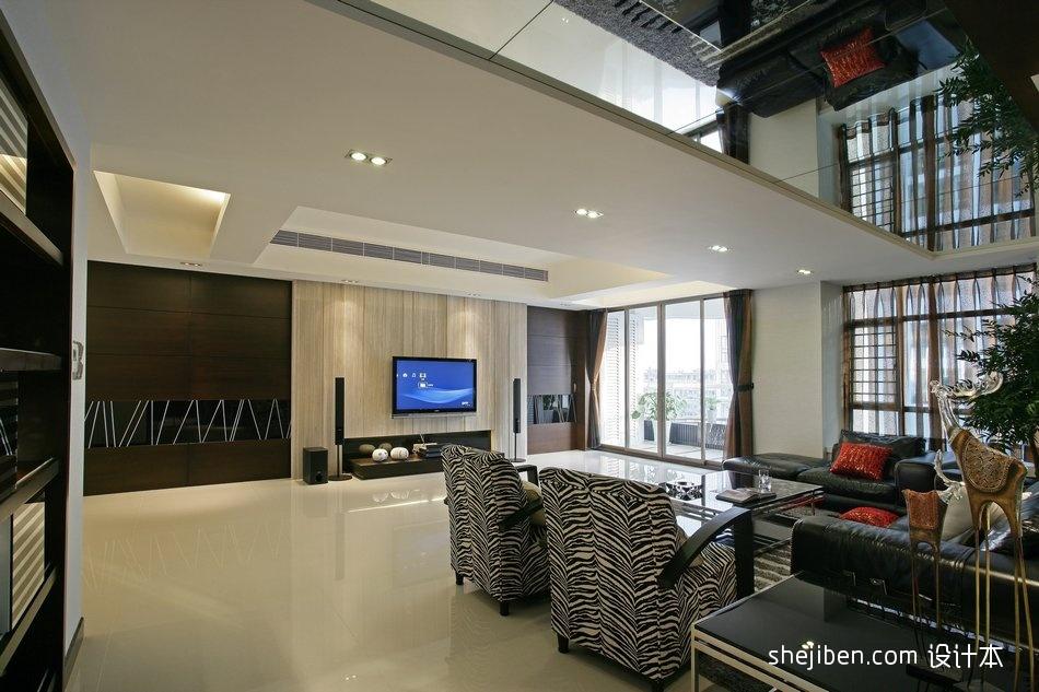 精选112平方混搭别墅客厅实景图片客厅潮流混搭客厅设计图片赏析