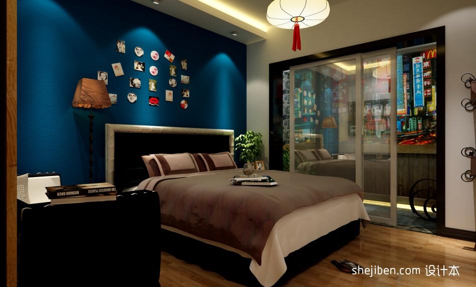 面积134平复式卧室混搭装修实景图设计图片赏析