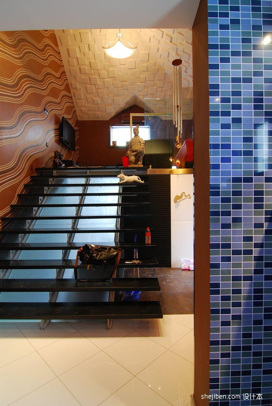 风尚波普打造香艳美屋复式楼楼梯装修效果图设计图片赏析