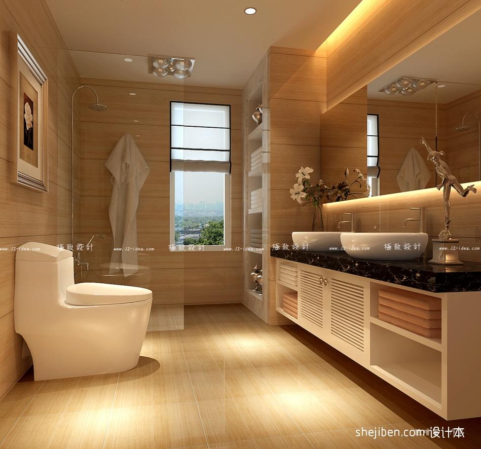 轻奢108平混搭三居卫生间图片欣赏卫生间潮流混搭卫生间设计图片赏析