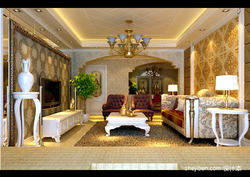 精选123平米四居客厅混搭设计效果图客厅潮流混搭客厅设计图片赏析
